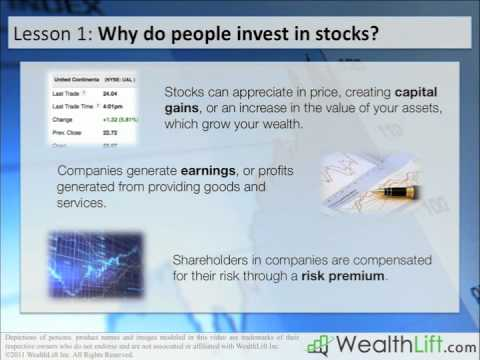 stock markets - Understand stock market terminology and why people invest in stock and share markets. For more free lessons, stock discussions and to earn $100 for getting e...