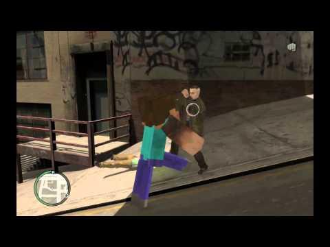 GTA IV - MineCraft Gone 21st Century (Minecraft Steve) HD