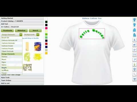 Custom T Shirt Design Software and Application Tool by CBSAlliance.com