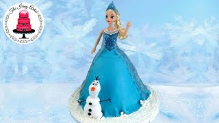 How To Make A Frozen Princess Elsa Cake With Olaf