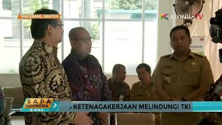 Pemberian Santunan untuk Keluarga TKW di Lampung