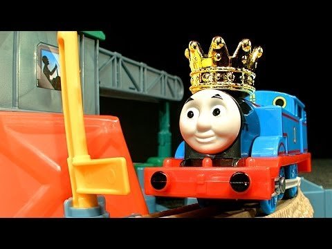 Thomas The Tank Castle Quest Trackmaster Train Set & Percy's Rocket King Of The Fail Reel