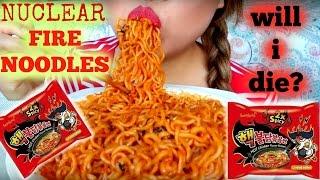NUCLEAR FIRE NOODLES CHALLENGE 🔥 핵불닭볶음면  MUKBANG 먹방  ASMR Eating Show