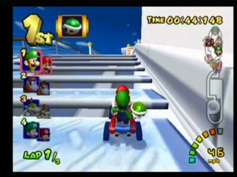 mariocart - Me playing as Mario & Luigi, winning gold medal + 40 points. Mario Kart: Double Dash!! is a racing game developed by Nintendo Entertainment Analysis and Deve...