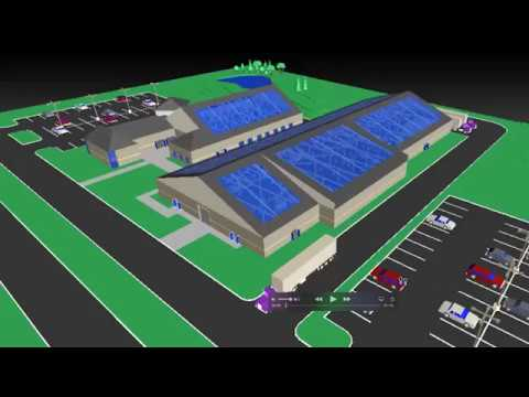 Design facility layouts. Visualize and detect clashes in large facility layouts. (video: 1:43 min.)