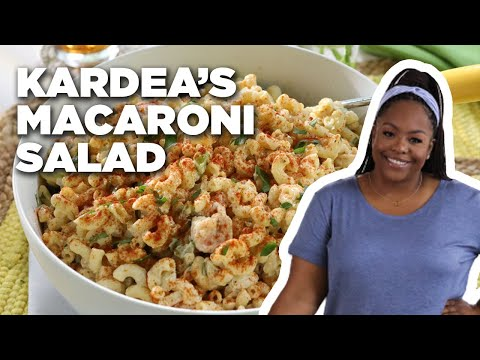 Kardea Brown's Macaroni Salad with Grilled Shrimp | Delicious Miss Brown | Food Network