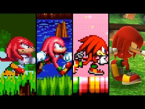 Evolution of Knuckles the Echidna (1994 - 2018)