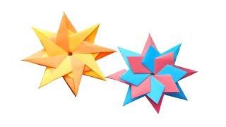 Восьмиконечная звезда из бумаги. Оригами поделки для декорирования
