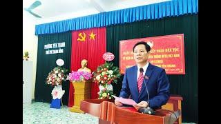 Đồng chí Phạm Tuấn Đạt, Phó Bí thư Thường trực Thành ủy dự Ngày hội đại đoàn kết toàn dân tộc tại khu Phú Thanh Đông, phường Yên Thanh