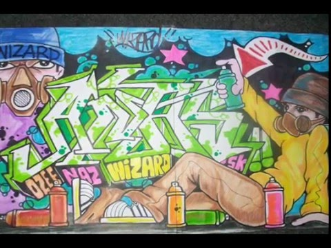 Requested by (ANAS) drawing graffiti By WIZARD (speed drawing).wmv