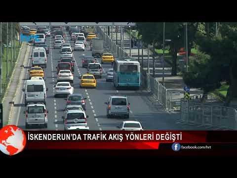 İskenderun'da Trafik Yönü Değişti