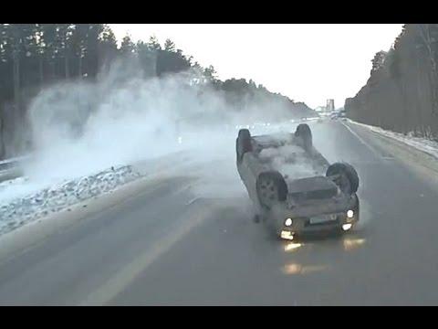 Жесткие зимние заносы. Жесткие аварии.
