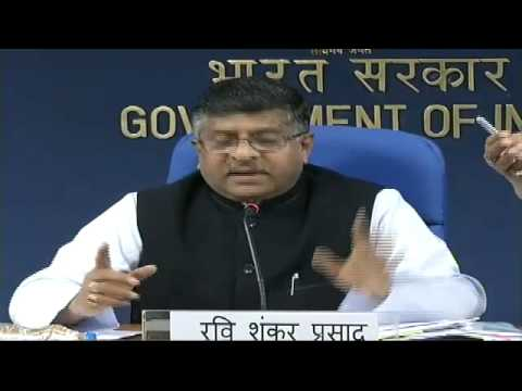 Shri Ravi Shankar Prasad press conference on the new initiatives and achievements of the Ministries