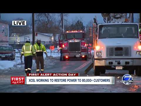 Update from Xcel on restoring power