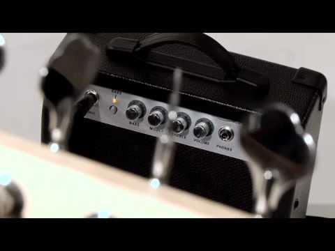 Rocktile Groover's Pack PB E-Bass Set (Black), 6-teilig