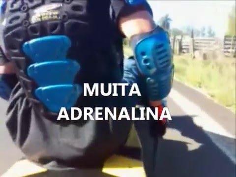 Descida na lomba em Paverama-RS