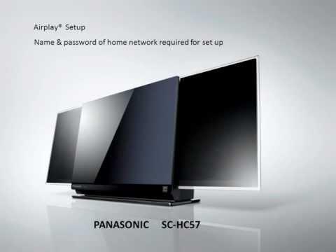 Airplay Setup - Panasonic SCHC57