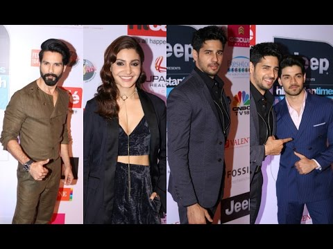 Anushka Sharma | Shahid Kapoor | Sidharth Malhotra | Rishi Kapoor At HT Most Stylish Awards 2017