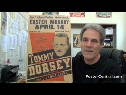 Tommy Dorsey Concert Poster 1940s w/Orchestra (Sinatra included!)