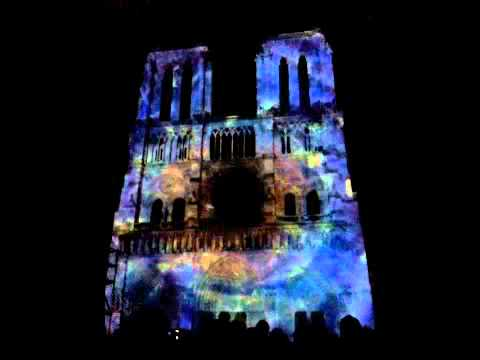 Notre Dame Cathedral: A Beautiful Animation Projected on the Facade