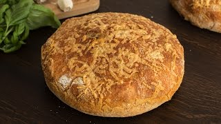 No-Knead Cheese Bread Recipe by Home Cooking Adventure