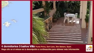 Sant Lluis Spain  city photo : 4 dormitorios 3 baños Villa se Vende en Punta Prima, Sant Lluís, Illes Balears, Spain