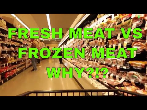 FRESH MEAT VS FROZEN MEAT AT THE SUPERMARKET   WHY THOUGH? day in the life