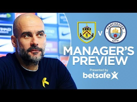 Video: Pep Injury Updates   Pre-Match Press Conference   Burnley v City