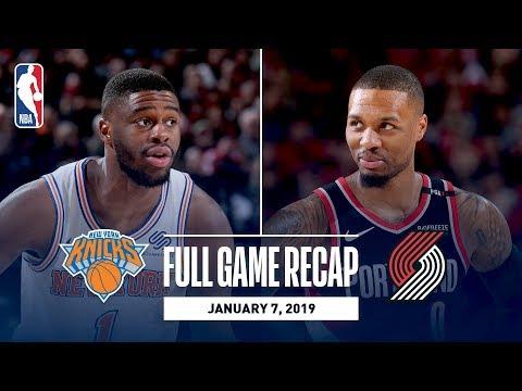 Video: Full Game Recap: Knicks vs Trail Blazers | Mudiay and Lillard Duel In Portland