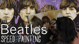 The BEATLES Speed PAINTING - Time Lapse Art Tutorial By Stephen Quick