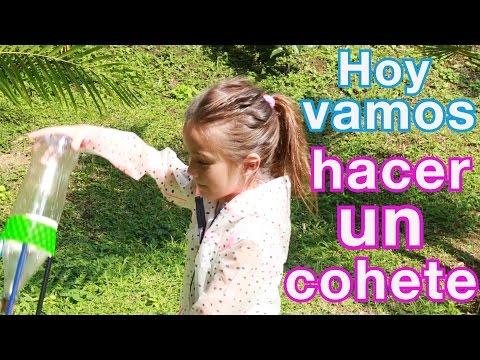 Experimento para niños cohete de vinagre #VuelaCohete