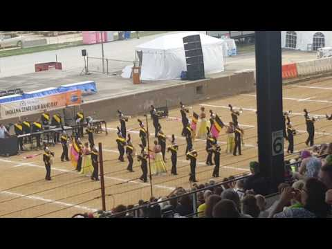 Decatur County Marching Band Indiana State Fair Band Day 2016