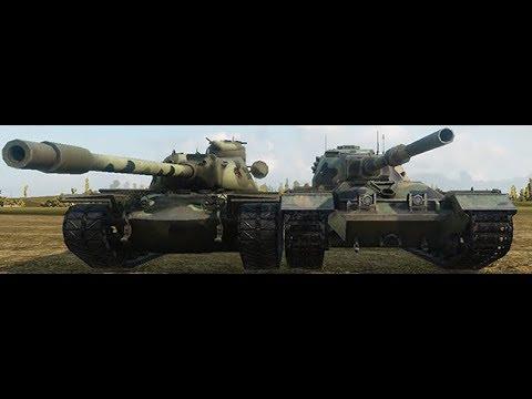 World of Tanks Blitz - T110E5 Vs FV215b