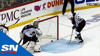 Gabriel Landeskog Accidentally Knocks Puck Into Own Net In Overtime by Sportsnet Canada