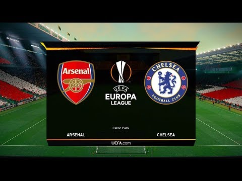 Arsenal Vs Chelsea (AI Vs AI) Europa League FINAL 2019 | PES 2019