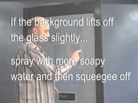 How to apply decals/stickers to glass doors