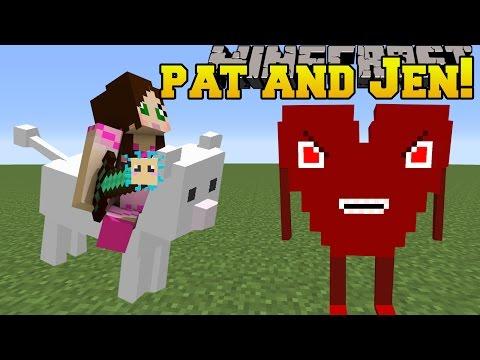 Minecraft: PAT & JEN MOD!!! (CLOUD, HEART BOSS, & PUFFERFISH WEAPONS!) Mod Showcase (видео)