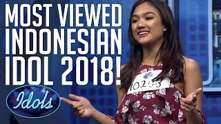 Video TOP 10 MOST VIEWED INDONESIAN IDOL 2018 AUDITIONS! | Idols Global MP3, 3GP, MP4, WEBM, AVI, FLV September 2018