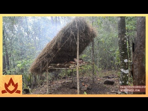 Primitive Technology Making a Bed Shed