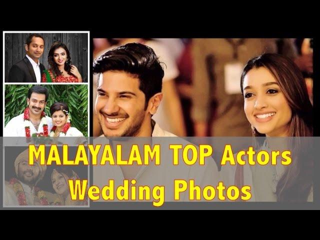 Top Malayalam Actors Actresses Rare Wedding Photos