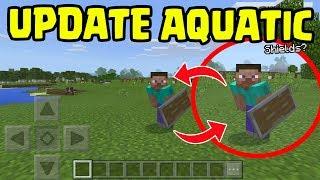 Minecraft PE 1.4 UPDATE Aquatic - Shields and Dual Wielding