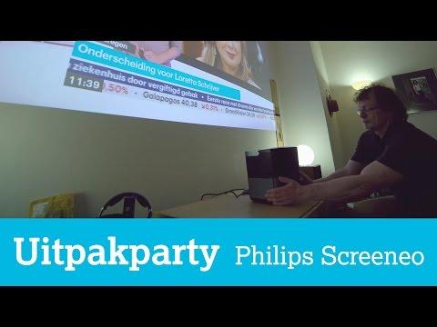 Uitpakparty: Philips Screeneo short-throw beamer HDP2510