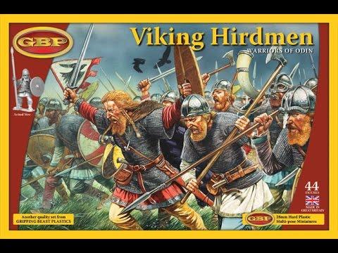 Вскрытие набора Viking Hirdmen для SAGA