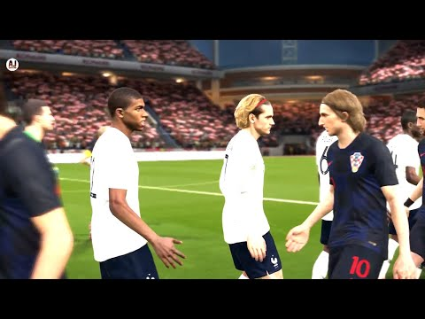 FINAL FRANCE VS CROATIA WORLD CUP 2018 || FIFA WORLD CUP RUSSIA Gameplay