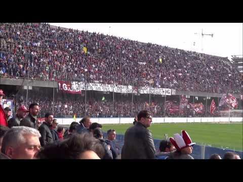salernitana - lupa roma cori curva sud + festeggiamenti + gol