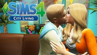 Kissing our Neighbor! | The Sims 4 City Living Ep.2