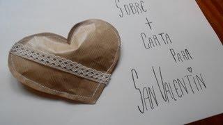 DIY ** Carta De San Valentin ** Valentine Card