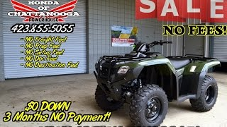 1. 2016 TRX420FM2G Rancher 420 Manual Shift + Power Steering ATV SALE / Honda of Chattanooga TN