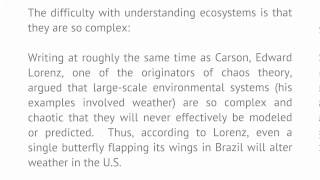 Introduction To Literature And The Environment - Lecture 16: Rachel Carson (conclusion)