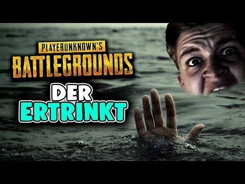 Playerunknowns Battlegrounds - Der ertrinkt! - PUBG